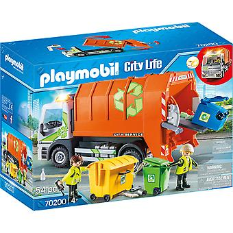 Playmobil 70200 City Life kierrätys Truck 54PC Playset