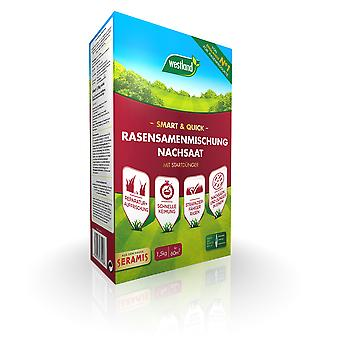 WESTLAND® Smart & Quick - Lawn seed mixture reseeding, 1.5 kg for 60 m2