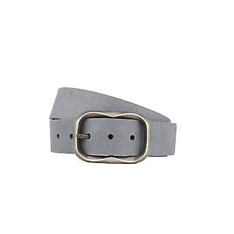 Simple Navy Blue Women's Belt With Vintage Oval Buckle