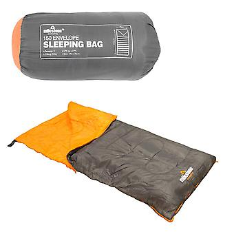 Milestone Envelope 2 Season Sleeping Bag Single Grey 170 x 75cm