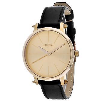 Nixon Frauen's Kensington Leder Gold Uhr - A108-3148