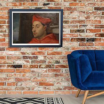 Ticiano - retrato do Cardeal Antonio Pallavicini Poster Print Giclée