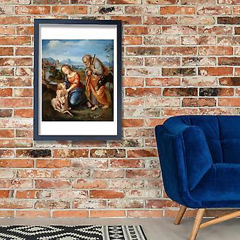 Raphael - italialainen Pyhä perhe lampaalle Juliste Tulosta Giclee