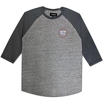 T-Shirt de Baseball Brixton Wheeler manches 3/4 gris bleu