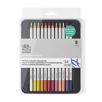 Winsor & Newton Studio Collection Water Colour Pencil 24 Set