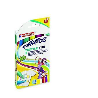 edding-17 Funtastics المنسوجات متعة assorti 5 ألوان 4-17-5