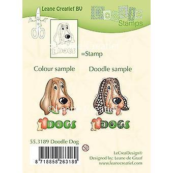 LeCrea Doodle klar Stempel - Hund