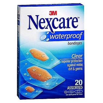Nexcare waterproof cushioned foam bandages, assorted, 20 ea