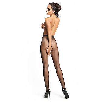 Miss O Fishnet Open Gusset Pinstripe Tights