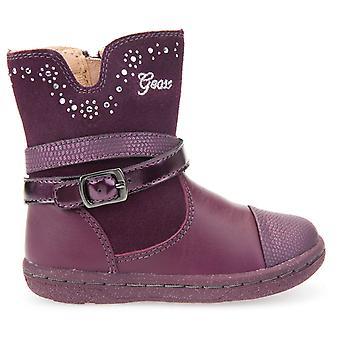 Les filles Geox Flick B6434B bottes Prune violet