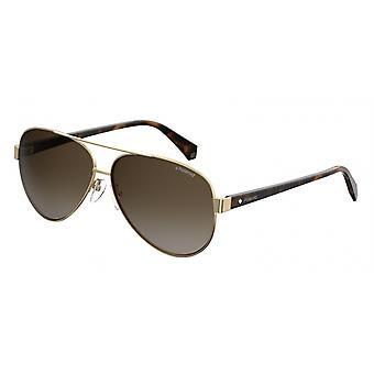 Okulary przeciwsłoneczne 4061/SJ5G/LA Męskie gradientowe złoto/brąz