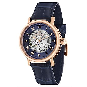 Thomas Earnshaw Beaufort automatisch Skeleton horloge - blauw/Rose Gold