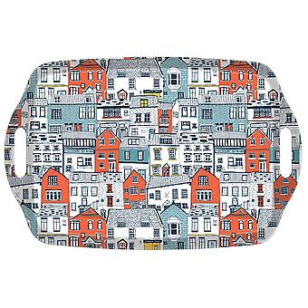 iStyle Coastal Houses Tea Tray