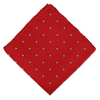 Michelsons of London Spotted Handkerchief - Red/Light Blue