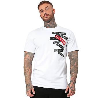 Religion 10blbg 95 Label Graphic Relaxed Shape T-shirt - White