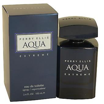 Perry Ellis Aqua Extreme Eau De Toilette Spray By Perry Ellis 3.4 oz Eau De Toilette Spray