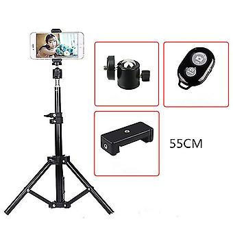 Bakeey live tripod bracket holder with bluetooth remote control phone clip for sport camera
