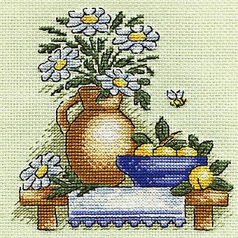 Panna Cross Stitch Kit - Chamomiles