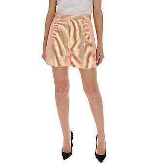 Kenzo Fa52sh0505at36 Kvinder's Orange Bomuld Shorts