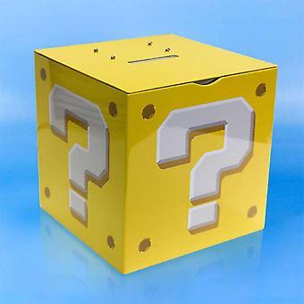 Super Mario Frågetecken Block Sparbössa med Ljud