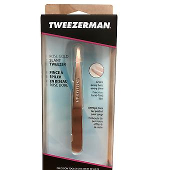 Tweezerman Rose Gold Slant Tweezer Modèle 1256-RGR