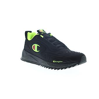 Champion Flex 19  Mens Black Suede Lace Up Low Top Sneakers Shoes