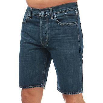 Men's Levis 501 Hemmed Shorts en bleu