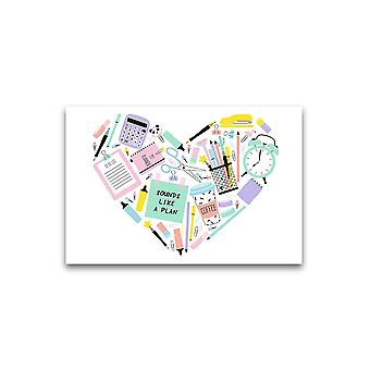 Heart Shaped School Untensils Poster -Image by Shutterstock