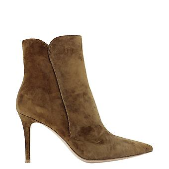 Gianvito Rossi G7032185riccastexas Women's Brown Suede Ankle Boots