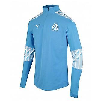2020-2021 Marseille Quarter Zip Training Top (Blue)