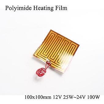 Heating Film Plate Polyimide Electric Heated Panel Pad Mat Electrotherma Flexible Adhesive Foil Oil Heater