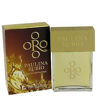 Oro paulina rubio eau de parfum spray by paulina rubio 464288 30 ml