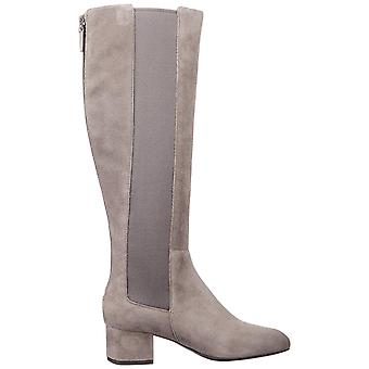 Cole Haan Womens Avani Stretch Boot Leather Almond Toe Knee High Riding Boots
