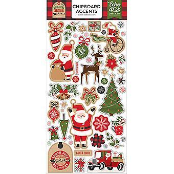 Echo Park Mi Navidad favorita 6x13 pulgadas aglomerado acentos