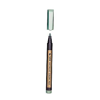 Gekleurde Highlighters - Waterproof Permanente Metallic Marker Pennen voor White Paperboard Kraft Paper Photo Albums Diy Decoraties