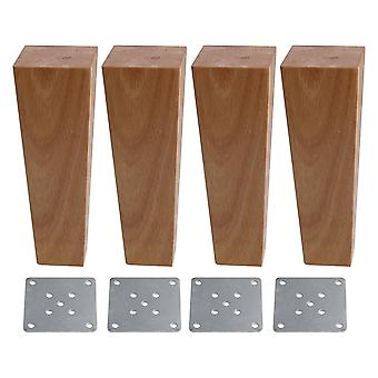 4pcs Wood 90degree Trapezoid Furniture Foot Leg 4*6*18cm