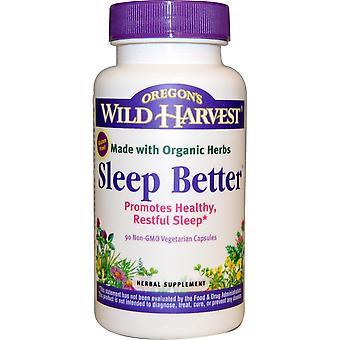 Oregon's Wild Harvest, Sleep Better, 90 Non-GMO Vegetarian Capsules