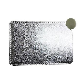 Portable Mini Shatter Proof Card Style - Pocket Cosmetic Mirror Pu Leather Cover Stainless Steel Unbreakable Makeup Mirror