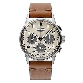 Iron Annie 5372-1 G38 Beige Dial With Chronograph Wristwatch