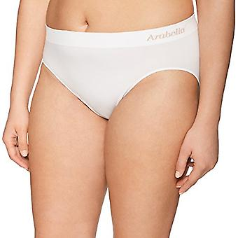 Brand - Arabella Women's Seamless Hi Cut Brief Panty, 3 Pack,Black/Sun...