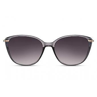 النظارات الشمسية السيدات فراشة كامل حافة كات. 3 رمادي / دخان