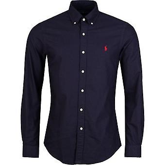 Polo Ralph Lauren Slim Langarm Oxford-Hemd gewaschen