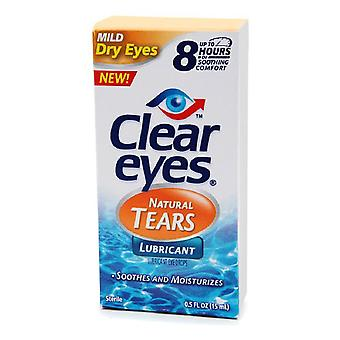 Clear eyes natural tears lubricant, 0.5 oz *