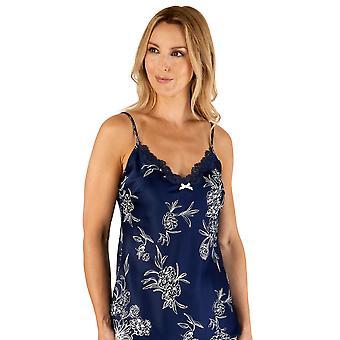 Slenderella Gaspé GL66722 Kvinnor's Navy Blue Floral Pyjama Set