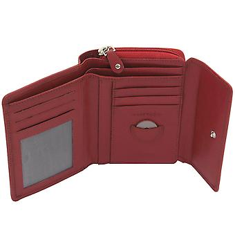 Friedrich Leather Goods Purse MANDALA Leather Red RFID Protection Many Compartments