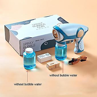 Summer Smoke Magic Bubble Machine Electric Automatic Bubble Blower Maker Gun Kids Outdoor Toys Birthday Gift