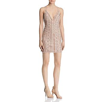Aidan Mattox | Beaded Sequined Cocktail Dress