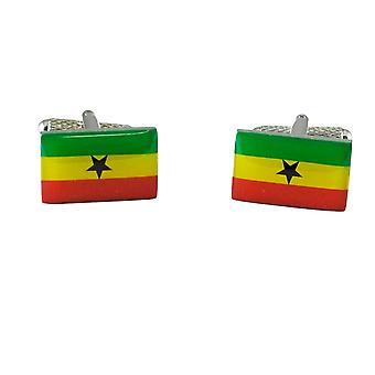 Δεσμοί Πλανήτης Γκάνα Σημαία Μανικετόκουμπα