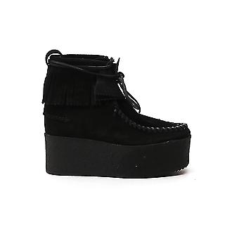 Palm Angels Pwid004f20lea0011010 Femmes-apos;s Black Suede Ankle Boots