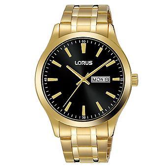 Lorus Mens Vergulde armband jurk horloge (Model nr. RH344AX9)